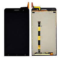 Дисплей (экран) для Asus ZenFone 6 (A600CG, A601CG) + тачскрин, черный