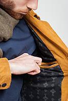 Демисезонная мужская куртка-пиджак . (Горчичный).  Арт-19PG058.5
