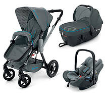 Коляска 3 в 1 Concord Wanderer Travel Set Stone Grey серая