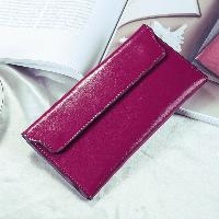 Кошелек женский кожаный с клапаном на магнитах (пурпурный)