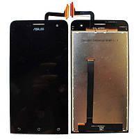 Дисплей (экран) для Asus ZenFone 5 Lite (A502CG)  с тачскрином в сборе, черный