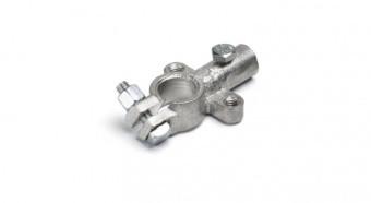 Клема акумуляторна лита під провід перетин 16 мм, латунь, М6 + М6