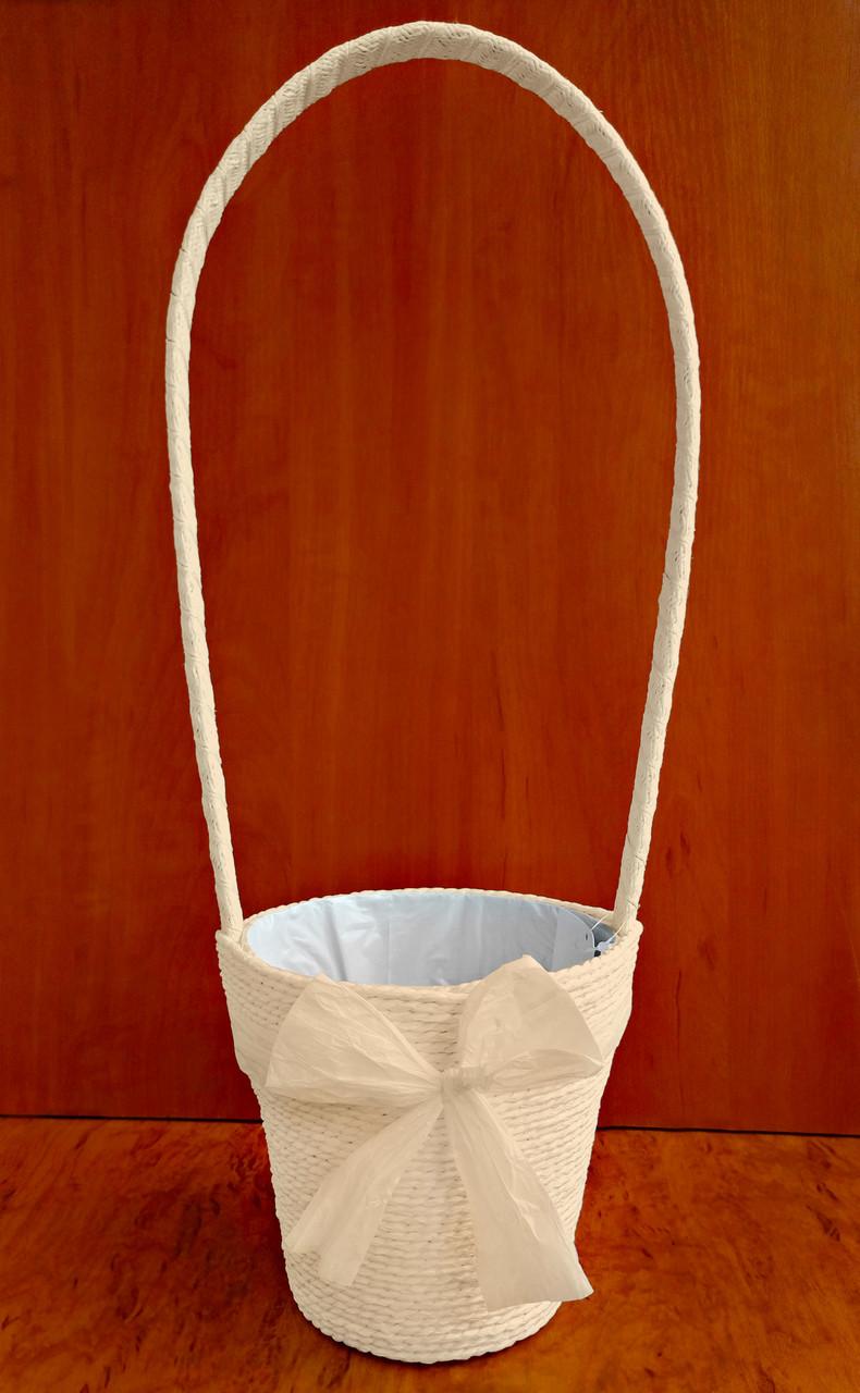 Корзина декоративная 50 х 15 см кремовая