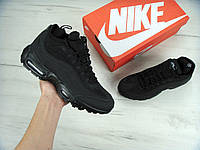 "Мужские кроссовки Nike Air Max 95 Sneakerboot ""Black"" еврозима"