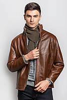 Теплая куртка из экокожи на меху (Коричневый). Арт-705K001.5