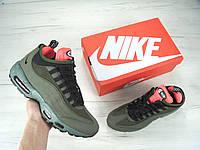 "Мужские кроссовки Nike Air Max 95 Sneakerboot ""Dark Green"" еврозима"