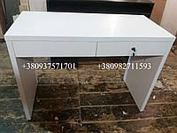 Маникюрный стол с утолщенной столешницей 28мм . Модель  А115 белый, фото 1