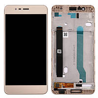 Дисплей (экран) для Asus ZenFone 3 Max (ZC520TL) 5.2 + тачскрин, золотистый, с передней панелью, фото 1