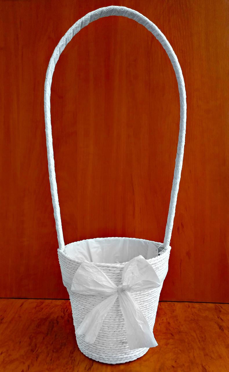 Корзина декоративная 50 х 15 см белая