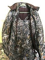 Зимний костюм для рыбалки и охоты  ткань Алова,цвет-коричнево-серый камыш рр48