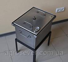Коптильня для гарячого копчення з термометром (400х300х280)