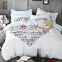 Постельное белье Love саржа 100% хлопок комплект полуторный кровать 1.2-1.5м