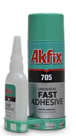 Клей с активатором для экспресс склеивания  Akfix 705 400мл/100гр