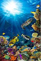 Фотоплитка Панно Подводный мир - керамическая плитка Рыбы