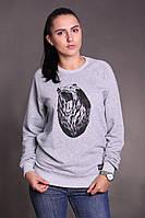 Женский свитшот Node grizzly (серый)