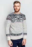 Свитер модный принт 383F004 (Бело-черный)