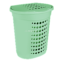 Корзина для белья Алеана 60 л (салатовый)