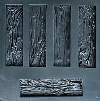 """Форма для декоративного каменю та плитки """"Дерев'яний скол"""", 15 плиток в комплекті"""