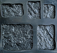 """Форма для декоративного каменю та плитки """"Кольрабі"""" (6 видів каменю, 10 форм), фото 1"""