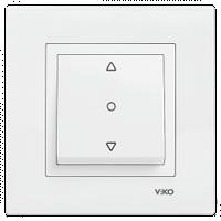 Выключатель для жалюзи VIKO Karre белый