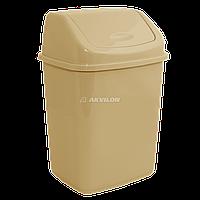 Ведро для мусора Алеана 10 л (кремовый)