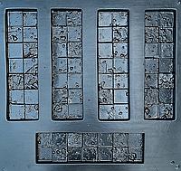"Форма для декоративного каменю та плитки ""Корсика"", АБС-пластик, комплект на 15 плиток"