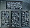 """Форма для декоративного каменю та плитки з АБС-пластика """"Ракушняк"""" (12 штук в комплекті)"""