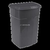 Бак мусорный Алеана 90 л (темно-серый)
