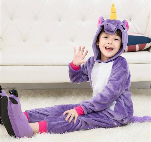 Пижама кигуруми для детей Единорог фиолетовый  купить с доставкой в ... 1e9e259d77365