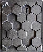 """Форма для гипсовых 3d блоков (перегородок) """"Сота"""""""