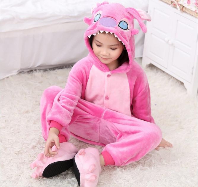 Пижама кигуруми для детей Стич розовый 854c35b7eaaa3