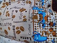 """Ткань вафельная полотенечная набивная """" Какао """" 150см"""