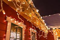 Новогодняя гирлянда Бахрома 200 LED, Белый теплый свет 3 м
