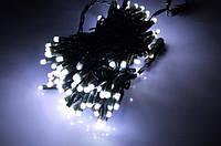 Гирлянда уличная новогодняя светодиодная Нить с мигающими светодиодами 10м 100LED