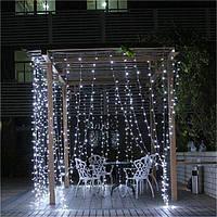 Уличная штора гирлянда влагозащищенная 3х2м 400 LED