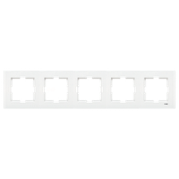 Пятерная горизонтальная рамка VIKO Karre белая