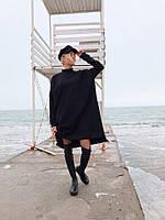 Вязанное стильное женское платье