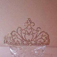 Корона, диадема, тиара под золото, высота 7 см.
