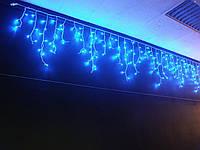 Новогодняя светодиодная гирлянда бахрома 200 LED 3м на 0.5 м белая и синяя