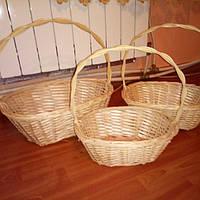 Набор корзин из лозы овальные