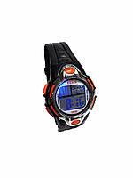 Часы электронные в пластиковой подарочной коробке 2 . оранжевый