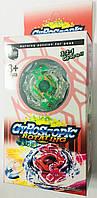 Детская Игра запускалка Beyblade/ Бейблейд Взрыв Метал зеленый волчок + запускалка,  расп. 3 части