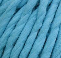 Толстая пряжа ручного прядения. 100% шерсть 21-23 мкрн. Цвет: Бирюза.