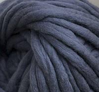 Толстая пряжа ручного прядения. 100% шерсть 21-23 мкрн. Цвет: Гранит.