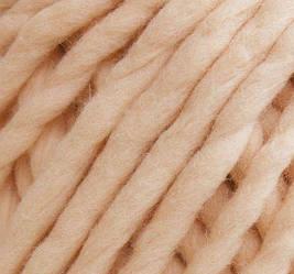 Толстая пряжа ручного прядения. 100% шерсть 21-23 мкрн. Цвет: Персик.