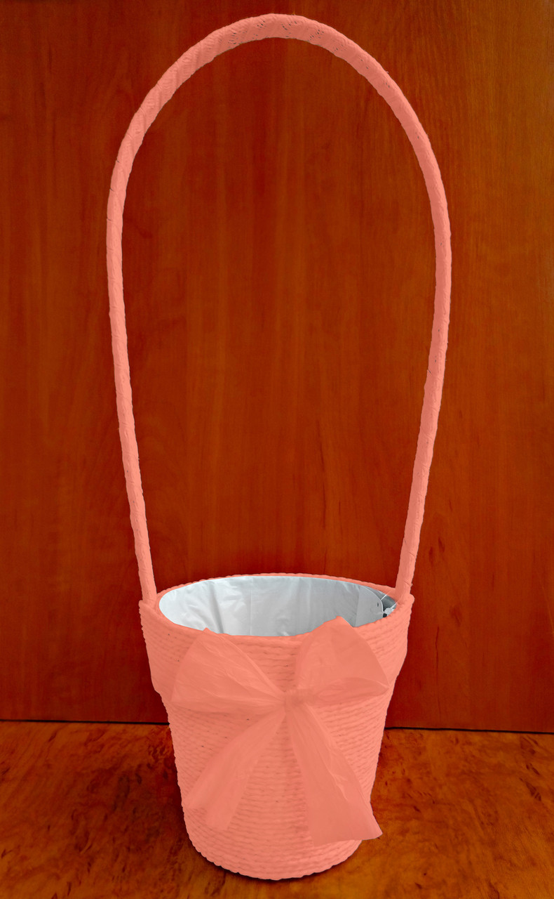 Корзина декоративная 50 х 15 см персиковая