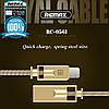 USB кабель Remax Royalty RC-056i Lightning 1m, фото 6