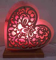 Соляная лампа Сердце лепестки