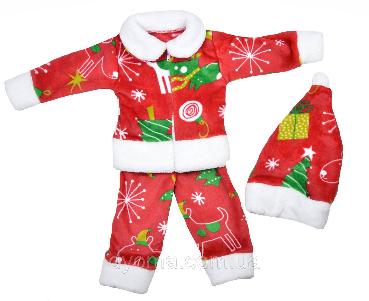 """Детский махровый костюм """"Новогодний"""" для мальчиков и девочек"""