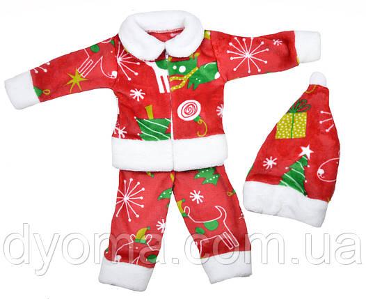 """Детский махровый костюм """"Новогодний"""" для мальчиков и девочек, фото 2"""